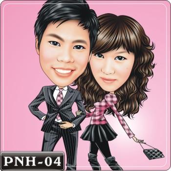 Q版人像繪圖情侶Q版繪圖情侶Q版繪圖PNH-04